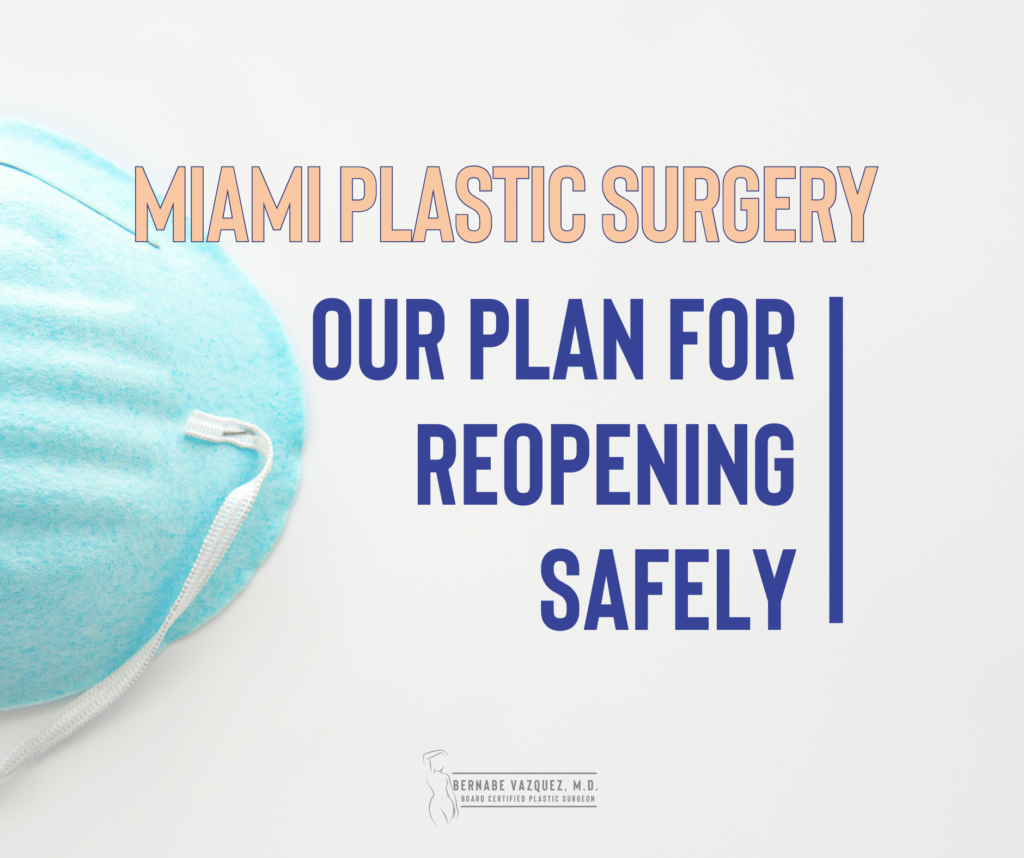 Miami Plastic Surgery: our plan for reopening safely
