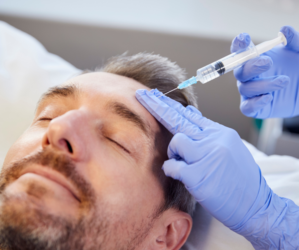 Injectable Treatments for your forehead, brows and temples.